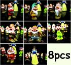 "New Snow White and the 7 Dwarfs Action Figure Figurine 1.5-3"" PVC Child Toy Doll"