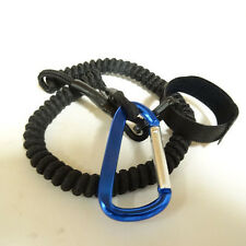 "CPL12 ~ 12"" Coiled Bungee Cord Kayak Paddle Leash 