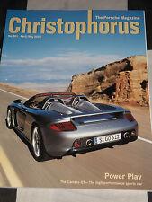 Christophorus Porsche Revista 301 Abril Mayo 2003 Porsche Carrera Gt 911 Gt3