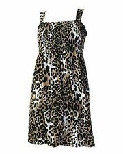 DARKSIDE Natural Leopardo Vestido Túnica Smock, Punk Goth Rock 8 10 12 14 16