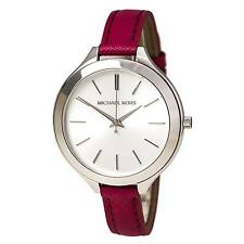 Michael Kors MK2272 Lady's Silver Dial Pink Leather Band Watch
