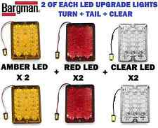 Bargman LED Upgrade Combo 6 LIGHTS Amber Turn Red Tail Clear Reverse TRAILER RV