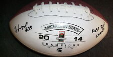 JEREMY LANGFORD MICHIGAN STATE SPARTANS SIGNED ROSE BOWL CHAMPS FOOTBALL w/ COA