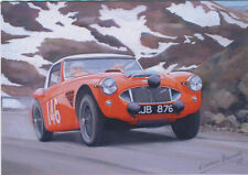 Austin Healey 3000 Alpine Rally Motor Racing Classic Car Blank Birthday Card