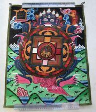Really Old Tibet Tibetan Hand Painted Buddhist Thangka Mandala Painting