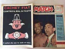 BOXE PUGILATO 1957 RIVISTA MATCH ANNO I N° 6  ROBINSON ZUDDAS BURRUNI BOZZANO