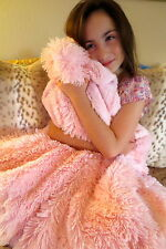 KVH by Kelly Van Halen Blanket Pink Shag/Pink Minky Faux Fur Jr Throw
