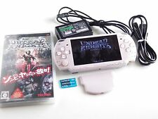 ORIGINAL SONY PSP 2000 ROSE PINK CONSOLE WITH BATTERY CHARGER UNDEAD KNIGHTS UMD