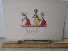 Vintage Print,OLD DAME OF TORBAY,Color,Edward Lear