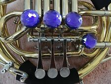 DOUBLE FRENCH HORN VIOLET DECORATOR ROTOR CAPS/TONE BOOSTERS, 4 PC. SET