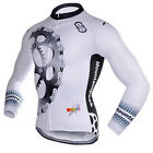 Long Sleeve Mens Cycling Jersey Winter Thermal Fleece White Cycling Jacket S-5XL