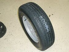 "15"" INCH TRAILER TIRE & WHEEL RIM, 205 75 15 RADIAL, BOAT, UTILITY, CAR TRAILER"