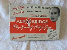 Vintage (1950) Auto Bridge Game and Learning Course In original Box