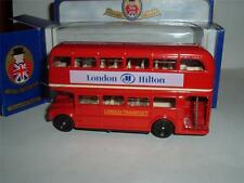 ROUTEMASTER BUS LONDON HILTON HOTELS LIVERPOOL ST CHARRING X PICCADILLY CIRCUS !