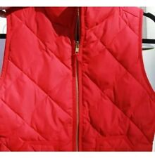 NWT J Crew Quilted Excursion Vest in Maraschino Cherry Size Xxs Red