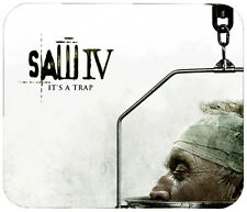 SAW IV MOUSE PAD - 1/4 IN. TV HORROR MOVIE MOUSEPAD