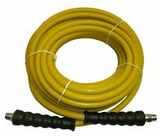 "4000 PSI Pressure Washer Hose 3/8"" x 50' Yellow Non-Marking R1 Rating"