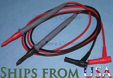"Top Quality Replacement Test Leads/Probes for Fluke & Other Multimeters 42"" Long"