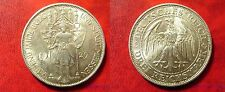 Rare 1929 Germany Large Silver 3 marks-Meissen-Nice