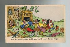 Disney Real Photo Snow White & 7 Dwarves French Edition Superluxe Mint Postcard