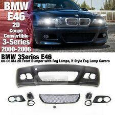 M3 Front Bumper + Grill Fog Lamp For BMW 00-06 2D 3Series E46 Coupe Convertible