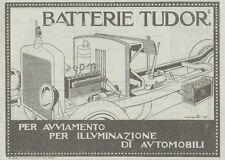 Z1965 Batterie TUDOR - Pubblicità d'epoca - 1920 Old advertising