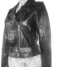 Damen Leder Jacke Biker Style Größe M