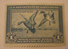 Texas Estate 1935 1st Issue US Migratory Bird Duck Stamp Unused Unsigned