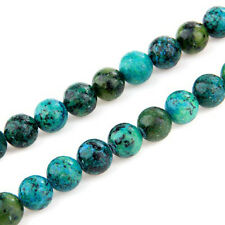 10 mm ball chrysocolla loose beads semi-precious stones T1