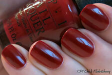 NEW! OPI Nail Polish Vernis CHICK FLICK CHERRY ~ Perfect Red Accent ~ Classic