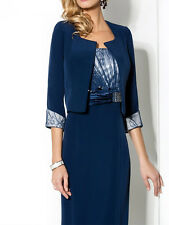 New Mother of the Bride Dresses with jacket Navy Blue Lace Mother Of The Groom