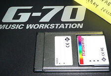 memory card for Roland G70 G-70 adapter with styles, midi songs & UPG pcmcia srx
