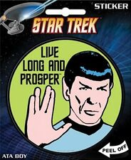 Star Trek Classic Spock Live Long and Prosper Peel Off Sticker Decal, NEW UNUSED