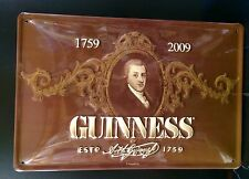 GUINNESS Portrait Vtg Metal Pub Sign 3D Embossed Steel Garage Decor,1759~2009