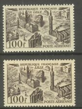 "FRANCE STAMP TIMBRE AERIEN N° 24 "" 100F LILLE, 2 COULEURS "" NEUFS xx TTB"
