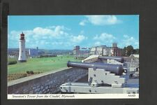 Harvey Barton Colour Postcard  Smeaton's Tower from the Citadel Plymouth (A6AD)