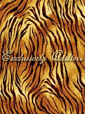 Exclusively Quilters Tigers 3814 60173 9 Orange Tiger Stripe BTY Cotton Fabric
