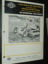 Prospectus IH INTERNATIONAL ATECO V PRS 1968 Bull Dozer MAC CORMICK Brochure TP