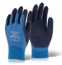 Wonder Grip WG318 AQUA Latex Grip Gloves Wet Work Waterproof Size 9/L