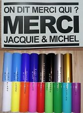 Sticker Jacquie et Michel on dit merci qui? 16cm x 9.5cm