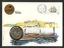 Numisbrief Briefe Nationen Malta 10 Cents 1972 Stempel 1985 NB-A6/67