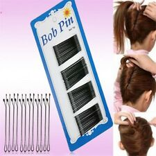 60Pcs Lot Invisible Haarspangen Flat Top Bobby Pins Grip Salon  Haarnadel Black