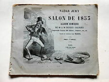 NADAR JURY au SALON de 1853 album comique caricature photographie