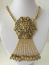 Vintage Pauline Trigere Statement Necklace with Pendant