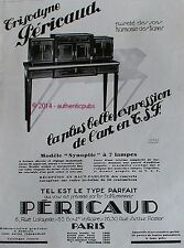 PUBLICITE PERICAUD TRISODYNE MODELE SYNOPTIC A 7 LAMPES FROCK DE 1928 FRENCH AD