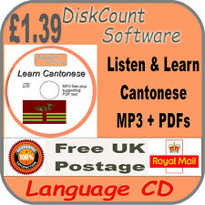 Listen & Learn Chinese Cantonese Language Courses CD  mp3 audio & text