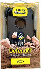 "NEW ! iPhone 7 4.7"" OTTERBOX Defender Series case  w/ Belt Clip Holster Black"