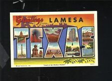 GREETINGS FROM LAMESA TEXAS LARGE LETTER LINEN POSTCARD JOHNSON NEWS AGENCY
