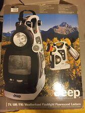 New in Box JEEP JKLTV AM/FM Radio/TV/Flashlight/Weatherband {Jeep Collectors}