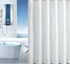 Extra Long Plain Ice white Polyester shower curtain ( 180 X 220 cm)